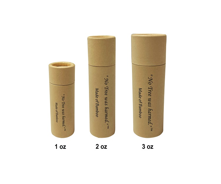 No Tree Was Harmed Kraft Paperboard Push Up Tubes Made of Bamboo Paperboard, Packaged in 250gsm Bamboo Kraft Paper